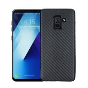Θήκη SAMSUNG Galaxy A8 Plus OEM Carbon Fiber Texture Πλάτη TPU μαύρο