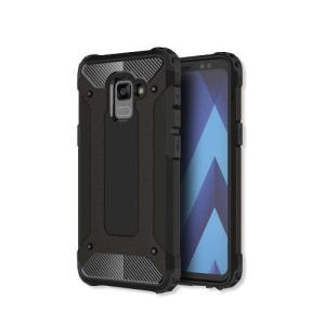 Θήκη SAMSUNG Galaxy A8 Plus OEM Armor Guard Hybrid Πλάτη TPU μαύρο