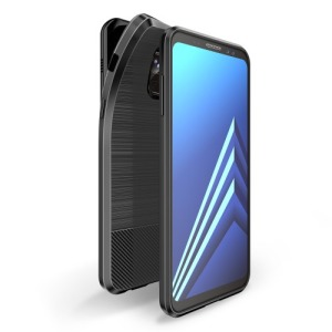 Θήκη SAMSUNG Galaxy A8 Plus DUX DUCIS Mojo Series Brushed TPU Carbon Magnetic Πλάτη μαύρο