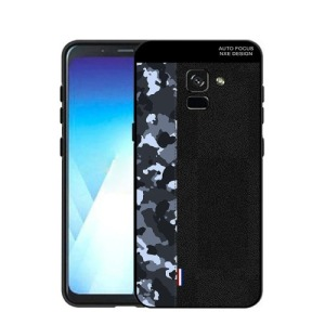 Θήκη SAMSUNG Galaxy A8 Plus NXE Blue Camouflage / Black Πλάτη TPU μαύρο