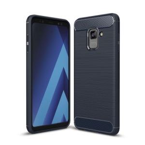 Θήκη SAMSUNG Galaxy A8 Plus OEM Brushed TPU Carbon Πλάτη μπλε