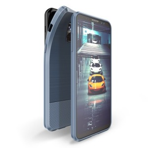 Θήκη SAMSUNG Galaxy A8 Plus DUX DUCIS Mojo Series Brushed TPU Carbon Magnetic Πλάτη μπλε