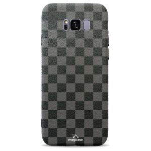 Θήκη SAMSUNG Galaxy S8 Plus OEM σχέδιο Grey Chess Πλάτη TPU