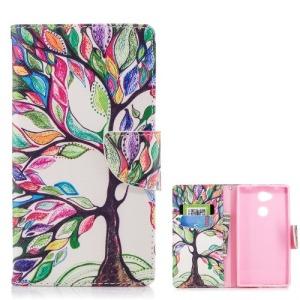 Θήκη SONY Xperia L2 OEM σχέδιο Colorized Tree με βάση στήριξης