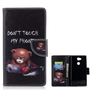 Θήκη SONY Xperia L2 OEM σχέδιο Angry Bear with Chainsaw με βάση στήριξης