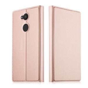 Θήκη SONY Xperia L2 OEM Skin Pro Series με βάση στήριξης και υποδοχή καρτών Flip Wallet δερματίνη ροζ