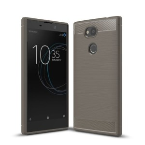 Θήκη SONY Xperia L2 OEM Brushed TPU Carbon Πλάτη γκρι