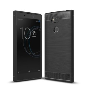 Θήκη SONY Xperia L2 OEM Brushed TPU Carbon Πλάτη μαύρο