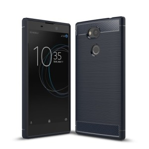 Θήκη SONY Xperia L2 OEM Brushed TPU Carbon Πλάτη μπλε