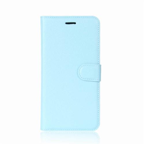 υποδοχές καρτών και μαγνητικό κούμπωμα Flip Wallet δερματίνη γαλάζιο