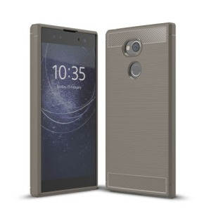 Θήκη SONY Xperia XA2 OEM Brushed TPU Carbon Πλάτη γκρι