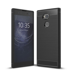Θήκη SONY Xperia XA2 Ultra OEM Brushed TPU Carbon Πλάτη μαύρο