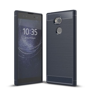 Θήκη SONY Xperia XA2 Ultra OEM Brushed TPU Carbon Πλάτη μπλε