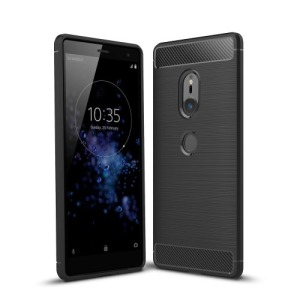 Θήκη SONY Xperia XZ2 OEM Brushed TPU Carbon Πλάτη μαύρο