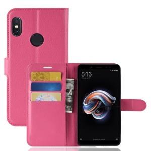 Θήκη XIAOMI Redmi Note 5 Pro OEM Litchi Skin Leather με βάση στήριξης