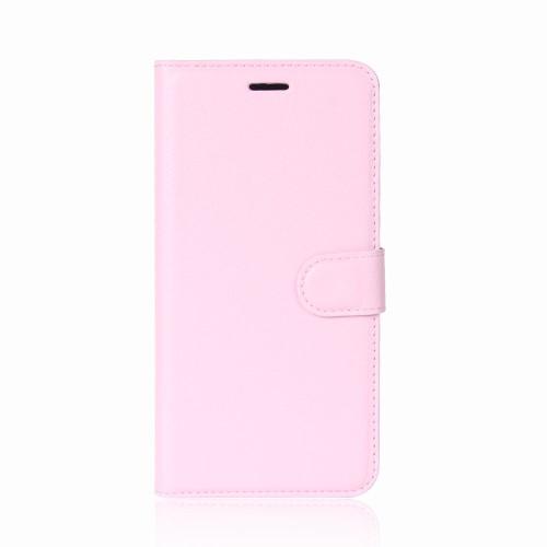υποδοχές καρτών και μαγνητικό κούμπωμα Flip Wallet δερματίνη ροζ