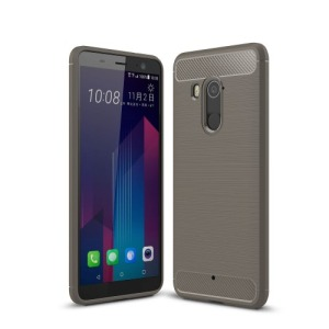 Θήκη HTC U11 Plus OEM Brushed TPU Carbon Πλάτη γκρι