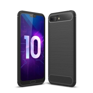 Θήκη HUAWEI Honor 10 OEM Brushed TPU Carbon Πλάτη μαύρο