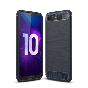 Θήκη HUAWEI Honor 10 OEM Brushed TPU Carbon Πλάτη μπλε