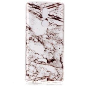 Θήκη NOKIA 7 Plus OEM σχέδιο marble white / Grey Πλάτη TPU γκρι