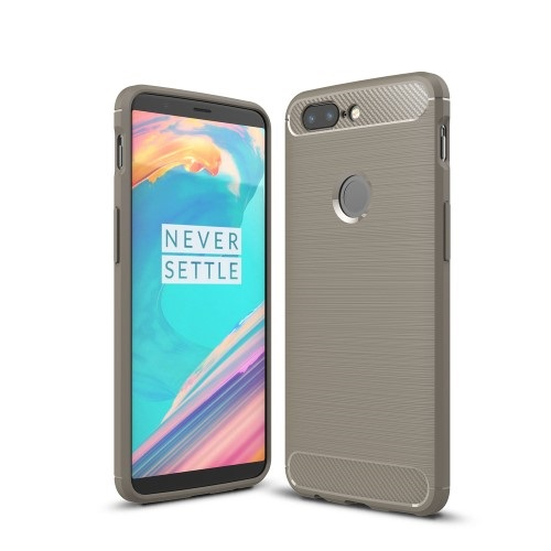 Θήκη OnePlus 5T OEM Brushed TPU Carbon Πλάτη γκρι