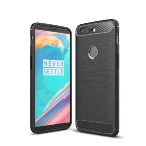 Θήκη OnePlus 5T OEM Brushed TPU Carbon Πλάτη μαύρο