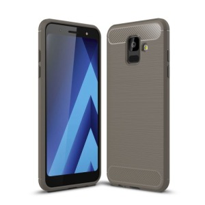 Θήκη SAMSUNG Galaxy A6 (2018) OEM Brushed TPU Carbon Πλάτη γκρι