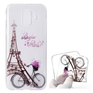 Θήκη SAMSUNG Galaxy A6 (2018) OEM σχέδιο Eiffel Tower & bicycle Πλάτη TPU