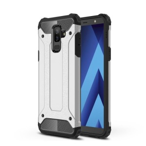 Θήκη SAMSUNG Galaxy A6 Plus (2018) OEM Armor Guard Hybrid Πλάτη TPU ασημί