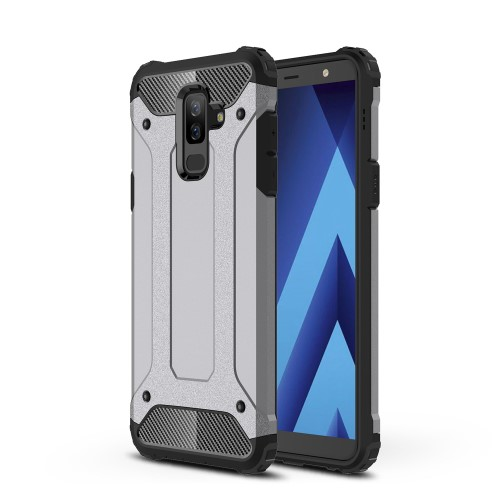 Θήκη SAMSUNG Galaxy A6 Plus (2018) OEM Armor Guard Hybrid Πλάτη TPU γκρι