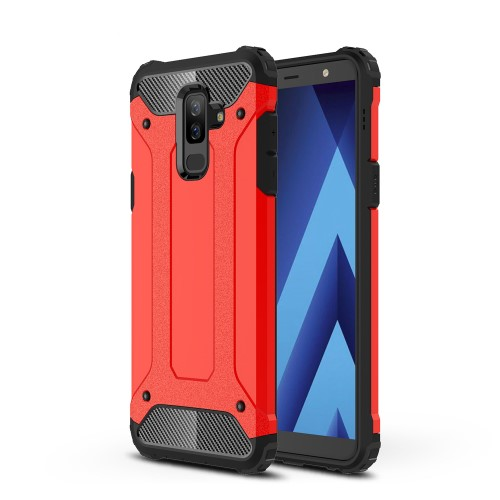 Θήκη SAMSUNG Galaxy A6 Plus (2018) OEM Armor Guard Hybrid Πλάτη TPU κόκκινο