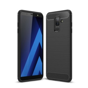 Θήκη SAMSUNG Galaxy A6 Plus (2018) OEM Brushed TPU Carbon Πλάτη μαύρο