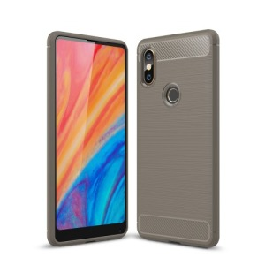 Θήκη XIAOMI Mi Mix 2S OEM Brushed TPU Carbon Πλάτη γκρι