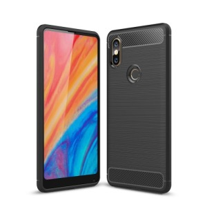 Θήκη XIAOMI Mi Mix 2S OEM Brushed TPU Carbon Πλάτη μαύρο