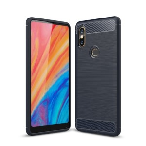 Θήκη XIAOMI Mi Mix 2S OEM Brushed TPU Carbon Πλάτη μπλε
