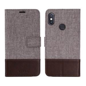 Θήκη XIAOMI Redmi Note 5 MUXMA Leather & Canvas με βάση στήριξης