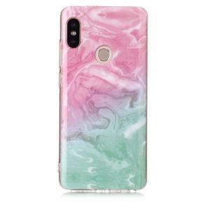 Θήκη XIAOMI Redmi Note 5 OEM σχέδιο Marble Pink / Green Πλάτη TPU