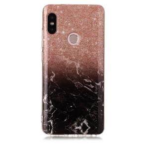Θήκη XIAOMI Redmi Note 5 OEM σχέδιο Orange / Black Πλάτη TPU πορτοκαλί