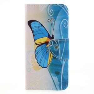 Θήκη HUAWEI Honor 9 Lite OEM σχέδιο Blue Butterfly με βάση στήριξης