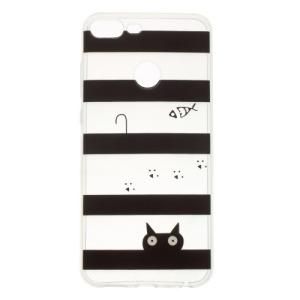 Θήκη HUAWEI Honor 9 Lite OEM σχέδιο Cat & stripes Πλάτη TPU