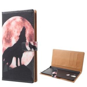 Θήκη NOKIA 8 Sirocco OEM σχέδιο Wolf Howling at the Moon με βάση στήριξης