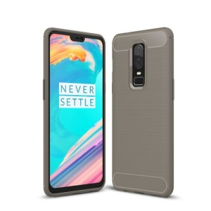 Θήκη OnePlus 6 OEM Brushed TPU Carbon Πλάτη TPU γκρι