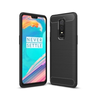 Θήκη OnePlus 6 OEM Brushed TPU Carbon Πλάτη TPU μαύρο