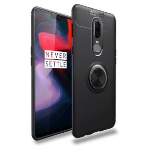 Θήκη OnePlus 6 OEM Magnetic Ring Kickstand Πλάτη TPU μαύρο