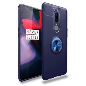 Θήκη OnePlus 6 OEM Magnetic Ring Kickstand Πλάτη TPU μπλε