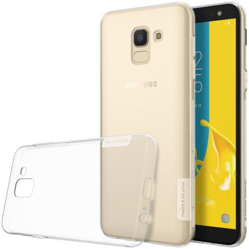 Θήκη SAMSUNG Galaxy J6 (2018) NiLLkin Nature Series 0.6mm Πλάτη διάφανη λευκό