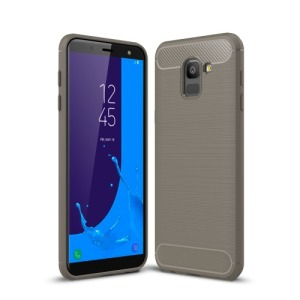 Θήκη SAMSUNG Galaxy J6 (2018) OEM Brushed TPU Carbon Πλάτη TPU γκρι
