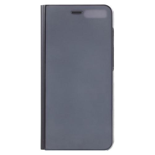Θήκη XIAOMI Mi Note 3 OEM Clear View & Mirror Surface με βάση στήριξης Flip Window δερματίνη μαύρο