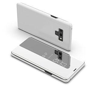Θήκη SAMSUNG Galaxy Note 9 OEM Mirror Surface View Stand Case Cover Flip Window δερματίνη ασημί