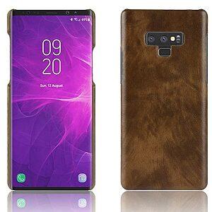 Θήκη SAMSUNG Galaxy Note 9 OEM Litchi Skin Leather with Hard Back πλάτη δερματίνη καφέ